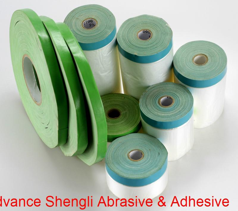 Pre-taped Masking Film With 70mesh cloth masking tape 3