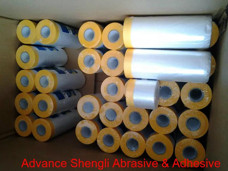 Pre-taped Masking Film With Japanese paper masking tape 5