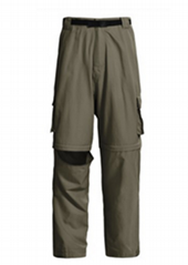 Belted Cargo Pants Convertible pant for men