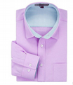 100% Cotton Oxford Plain Color Man's Slim Fit Long Sleeve Business Dress Shirt 1
