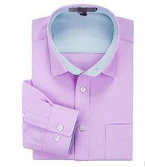 100% Cotton Oxford Plain Color Man's Slim Fit Long Sleeve Business Dress Shirt