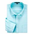 100% Cotton Oxford Plain Color Man's Slim Fit Long Sleeve Business Dress Shirt 2