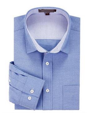 100% Cotton Oxford Plain Color Man's Slim Fit Long Sleeve Business Dress Shirt 3