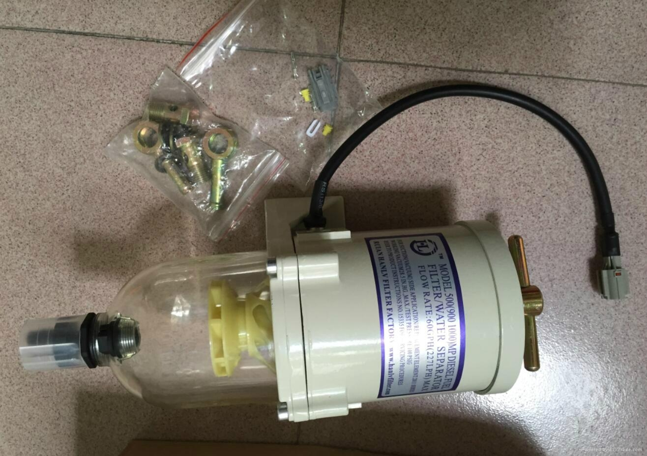 500FG ASSEMBLY WITH HEATER FUEL WATER SEPARATOR RACOR FILTER TURBINE DIESEL  ENGI 1 ...
