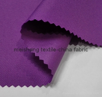 100% polyester oxford 600D PU coated fabric 2