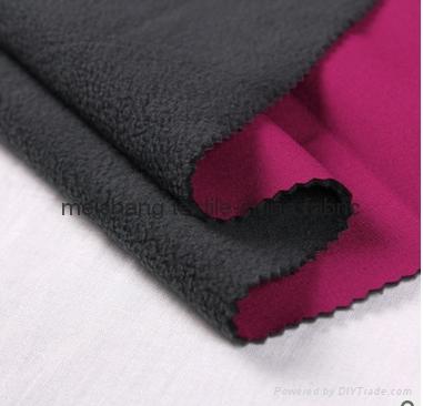 100D+20D polyester spandex stretch knitted fabric+TPU lamination+polar fleece 1