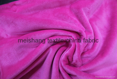 100% polyester warp knitted imitation super soft velvet fabric