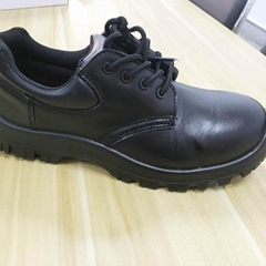 hand making black genuine leather upper anti-static safety shoes