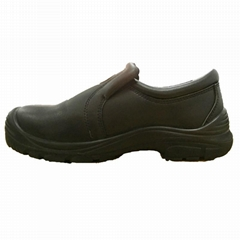simple design low cut black nubuck steel toe safety shoes