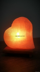 Double Heart shape Handmade Himalayan Rock Salt Lamp