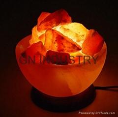 Himalayan Salt Lamp Light Gift Natural Air Purifier Fire Bowl Crystal Rock New