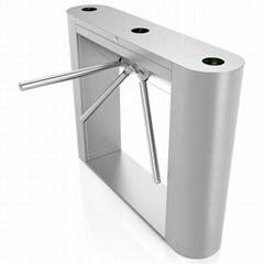 Bi-directional access control hydraulic damper tripod turnstile gate