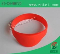Half Round RFID Silicone Wristband