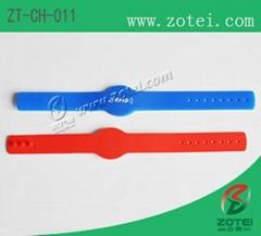 Concave-convex Button RFID Silicone Wristband