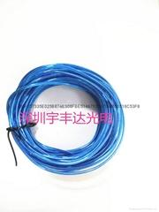 Luminous earphone wire material