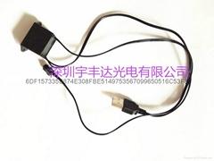 el冷光線汽車內飾氛圍燈3米配套USB灌膠驅動款
