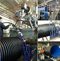 HDPE雙平鋼帶纏繞管擠出生產線-鋼帶纏繞管設備