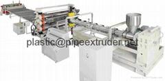 PP, PE ,PC & PVC中空格子板挤出生产线