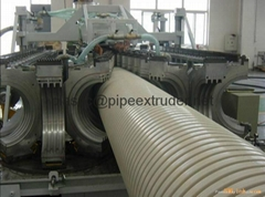 DWC 200-500mm UPVC Double Wall Corrugated Pipe Extrusion Line
