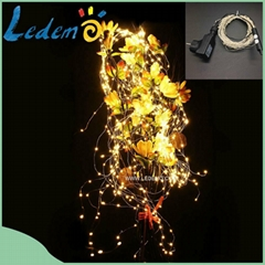 LED Christmas decoration outdoor use copper wire bunch light