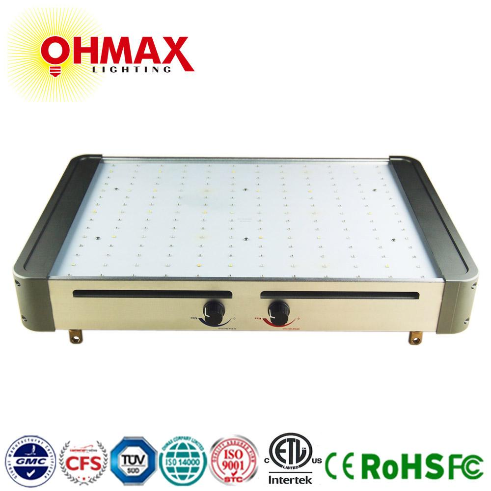 OHMAX 350W Square Type Full Spectrum LED Grow Light With Red&Blue Manual Dimmer 1