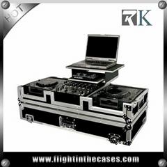 DJ Mixer Flight Case With Movable Laptop Platform