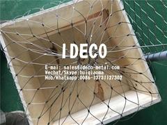 钻井平台防设备坠落安全网兜钢丝绳防护网罩