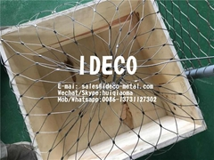 Drop Safe Cable Nets Fall Safety Wire Mesh Nets for Drilling Equipment