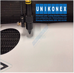 Sublimated twill laser cutting on dye sublimation printed fabric