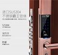 千御物聯指紋鎖 密碼鎖智能刷卡鎖家用防盜門鎖智能電子鎖門鎖 2