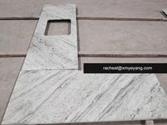 River White Granite Countertops for Kitchen Project