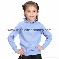 Hot Sale Warm Turtleneck Girls Sweater