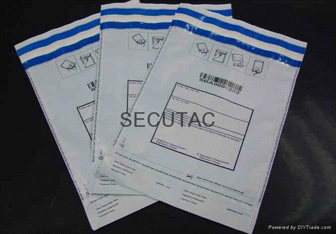 Security packing bag with VOID sealing tape 4
