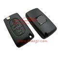 Peugeot 307 407 Flip Key Shell Replacement With Battery Place 1