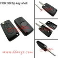 Peugeot 307 407 Flip Key Shell Replacement With Battery Place 2