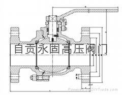 四川阀门自贡永固供应浮动球阀Q41F-16C