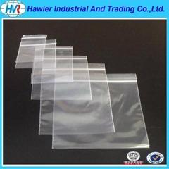 LDPE plastic clear zipper bag