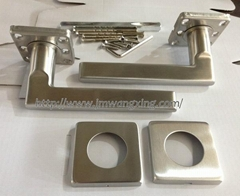 stainless steel 304 tube handle door lever handle