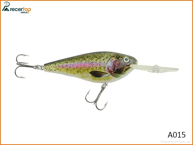 Diving swimming action bait fishing deep lures for sea and for Deep sea fishing lures