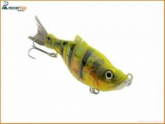 Simulation Hard Fishing 6 Section Lures Fishing Bait with Wmc Hooks