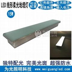 LED长条形地面灯 无边框柔光地埋灯 超窄边条形地埋灯