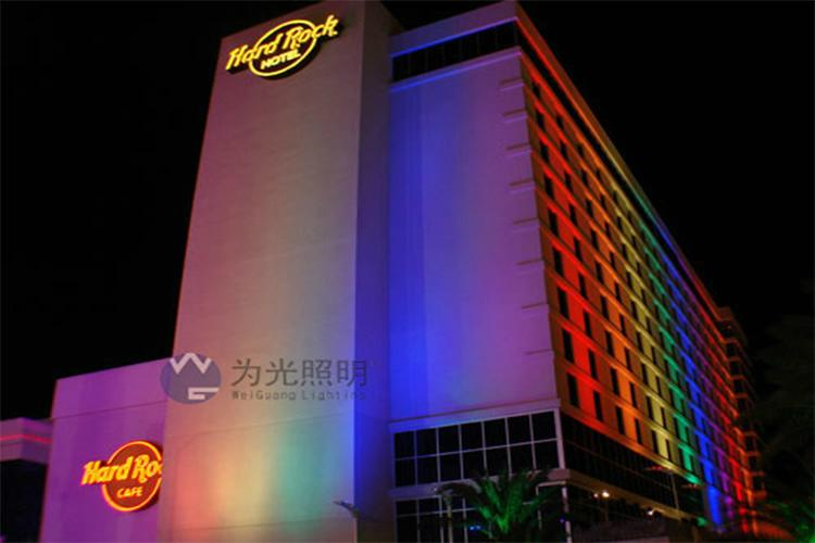 LED long-range wash wall lamp colorful variable contour projection outdoor  5