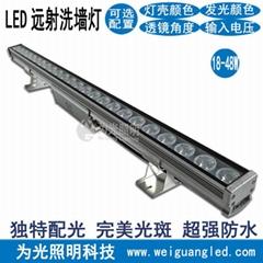 橋體輪廓亮化貼片燈大功率七彩多變外牆照射燈