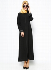 Ritual Simli Zippered Black Abaya