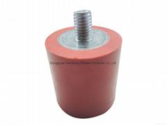 厂家直销 黑色圆柱形橡胶缓冲减震器