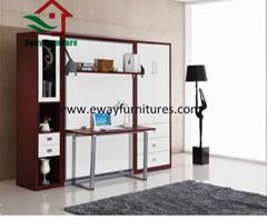 Fashionable creative space saving horizontal used murphy wall bed