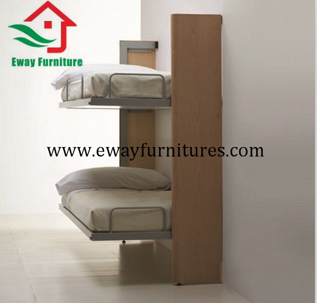 Bunk horizontal double wall folding bed wall bed 2