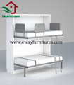 Bunk horizontal double wall folding bed wall bed 3