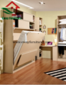 Save Space Bedroom Furniture Murphy Bed Folding Wall Bed with Movable Corner Des 2