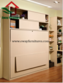 Save Space Bedroom Furniture Murphy Bed Folding Wall Bed with Movable Corner Des 5